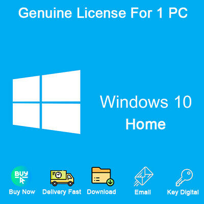 Windows 10 Home 32-64bit License Key Activation For 1 PC Genuine