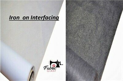 Iron On Fusible Interfacing Medium Wight, 90 cm Wide , High Quality
