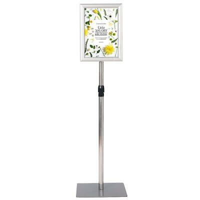 8.5 x 11 Aluminum Adjustable Pedestal Poster Stand Holder