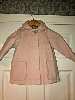 Girls Pink Fully Lined Next Hooded Coat Age 3-4 Yrs