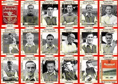 1947-48 Arsenal 1948 Division one champions football Trading Cards