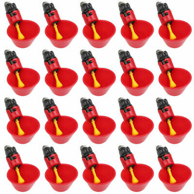 50Pcs Poultry Water Drinking Cups- Chicken Hen Plastic Automatic Drinker US