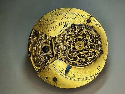 Early Chain Fusee Sedan clock movement Geo Flashman Fleet street London watch