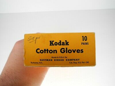 Eastman Kodak Cotton Gloves 6 Pairs w/ Box (Appear Unused)
