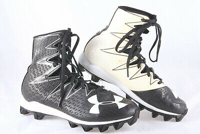 Under Armour Jr 1269697-061 Highlight RM Football Cleat SIZE 4Y Blk//Red F27 New