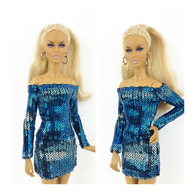 Fashion Royalty Handmade Blue Mini Dress Integrity Toys Color Infusion Clothes