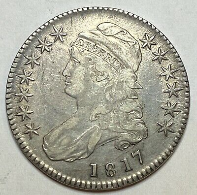 1817 Capped Bust Silver Half Dollar RARE !!