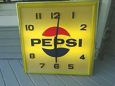 Large Vintage Pepsi Clock Sign, 36 by 36 inches