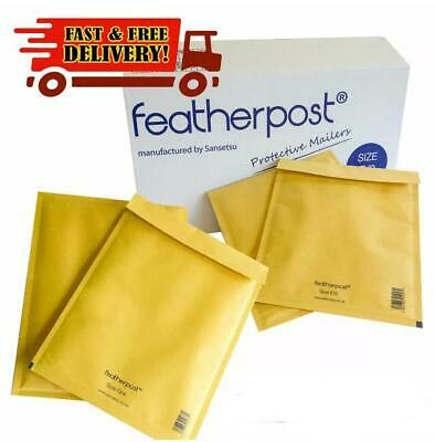 Genuine Featherpost Gold Padded Jiffy Bubble Envelopes Bags *All Sizes/Qty's* Uk