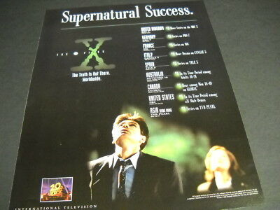 X FILES Supernatural Success THE TRUTH IS OUT THERE 1995 PROMO POSTER AD