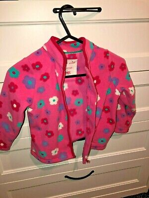Girl's Mothercare Pink Flowers Fleece Jacket Top Age 2-3 Yrs