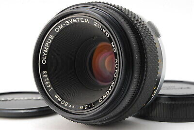 OLYMPUS Lens G.ZUIKO MC AUTO MACRO 50mm f3.5 1:3.5 MF OM mount made in JAPAN