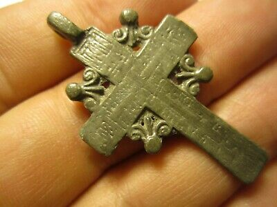 Ancient Bronze Cross Rare. Religious Artifact 17-18 Century. К79