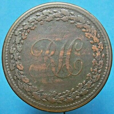 1814 LC-52 Lower Canada 1 Penny Merchant Token - Richard Heard Montreal