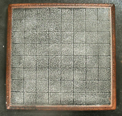 "Chess checker board mould 9.5"" x 9.5"" x 3/4"" thick plaster concrete mold"