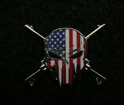 Xl Sniper Punisher Usa Skull Lapel Hat Pin Up Us Police Pd Swat Sheriff Patriot