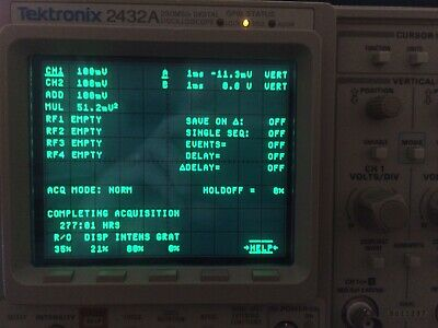 Almost Unused Calibrated TEKTRONIX 2432A 300MHz OSCILLOSCOPE ; extras available