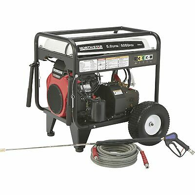 NorthStar Gas Cold Water Pressure Washer - 5.0 GPM, 5000 PSI, Electric Start,