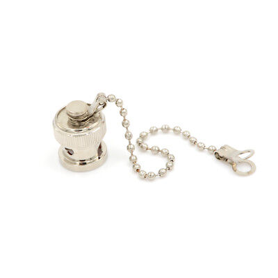 High quality BNC Copper Dust Cap With Chain female RF connector RC