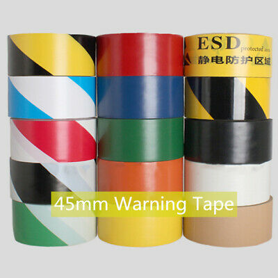 Hazard Warning Tape Barrier Roll Adhesive Floor Warehouse Safety Security 45mm