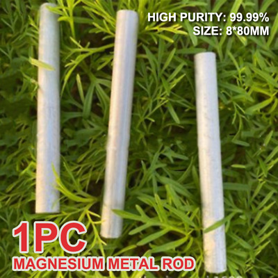 99.99% Mg Magnesium Metal Rod Bar for Outdoors Survival Tool 8*80mm