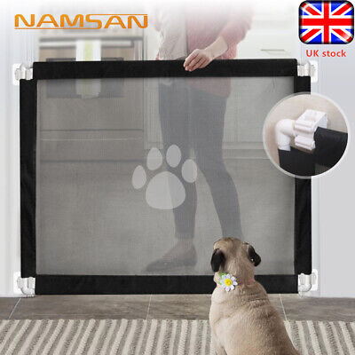 Retractable Mesh Safety Gate Pet Dog Gate Baby Safe Net Guard Fence Enclosure UK