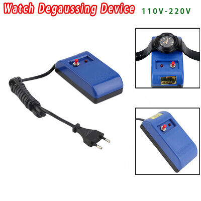 EU Plug Demagnetizer Watch Screwdriver Tweezers Electrical Demagnetise Tools