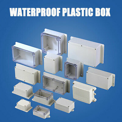 1x Waterproof Plastic Electronics Project Boxes Enclosure Hobby Case Cover Screw