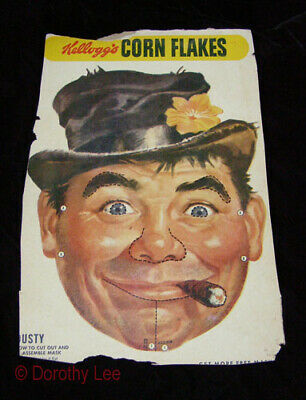 Kelloggs Corn Flakes Cereal Box Back 1950s