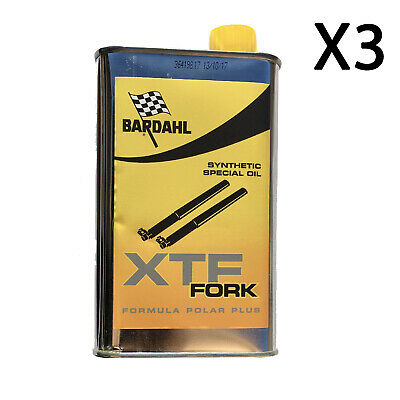 500ML X3 Bardahl XTF FORK Synthetic Oil Olio forcelle ammortizzatori moto racing