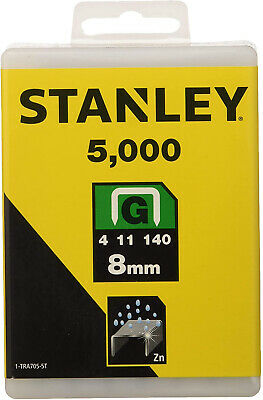 Stanley 1-TRA705-5T 8mm G-Type Heavy Duty Staples 5000 Pieces Stanley Hammer Tac
