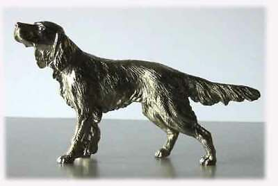 Irish or English Setter Nickel Silver Statue Figurine