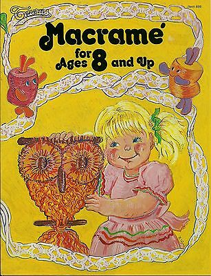BOOK ONLY # 886 Macrame for Ages 8 and Up - Beginner Patterns & Instuctions