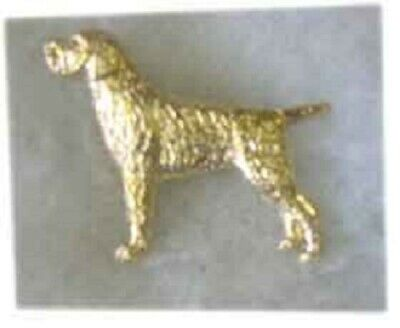 German Wire Haired Pointer Gold Plated Brooch Pin Jewelry LAST ONE!