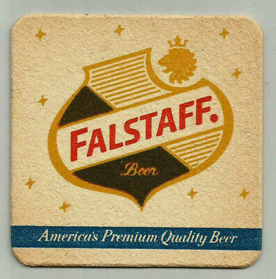 18 Vtg Falstaff Beer Coasters Know Your Glasses Choicest Product Brewers Art New