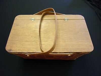 """Canadian Club """"Be-A-Part-Of-It"""" Mid 1980s Picnic Basket and Tableware Set"""