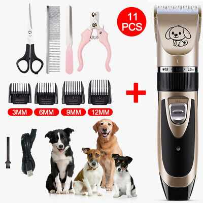 Electric Trimmer Animal Pet Dog Cat Hair Shaver Razor Grooming Quiet Clipper