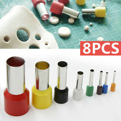 8x Baking Polymer Clay Mini Micro Round Circle Fondant Cookie Cutters Tools