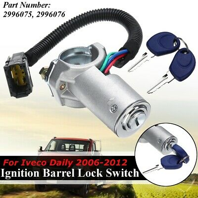 4 Pin Ignition Barrel Lock Switch Starter 2 Keys For Iveco Daily 2996075 2996076