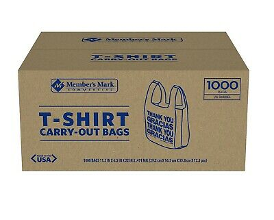 Member's Mark T-Shirt Carry-Out Bags - (1,000 ct.)