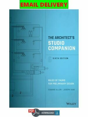 The Architect�s Studio Companion: Rules of Thumb for Preliminary Des ᴇʙᴏoᴋ