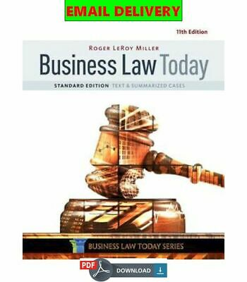 Business Law Today: Text & Summarized Cases, Standard Edition ᴇʙᴏoᴋ