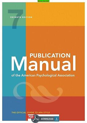 Manual Publication The American Association  Psychological 7th Ed ᴇʙᴏoᴋ