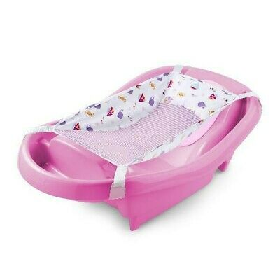 Newborn Baby Girl Bath Tub Summer Infant Toddler Comfy Clean Deluxe Pink New