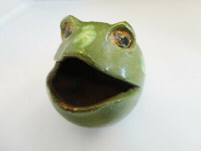 """Really Weird Clay Pottery 2.5"""" ROUND FROG w/ Mark"""