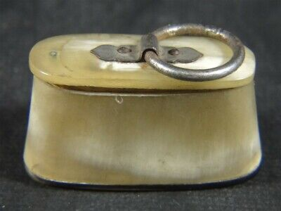 Antique Hoof Horn Oval SNUFF BOX