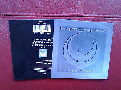 Magnum ''Days Of No Trust'' 4 Track Cd New Ex Shop Stock