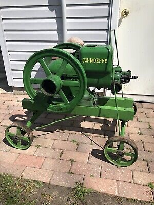1.5 Hp John Deere Hit Miss Gas Engine With Correct Pull Cart Hand Truck 1 1/2 hp