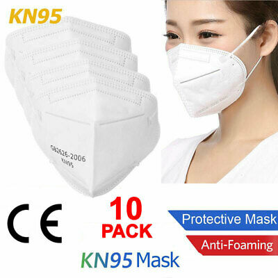 10 PCS KN95 Disposable Face Mask Mouth Cover Medical PM2.5 Breathable USA