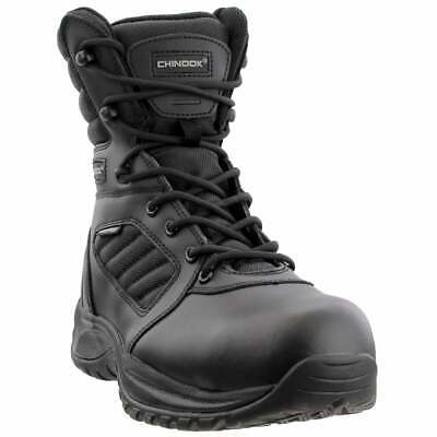 Chinook Cover 8 Inch Comp Toe  Casual   Work & Safety - Black - Mens